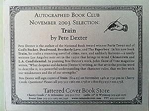 Train (SIGNED W/PROVENANCE): Pete Dexter