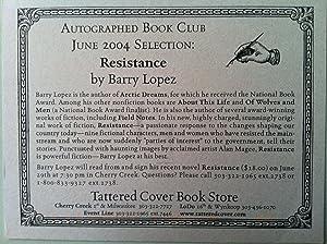 Resistance (SIGNED W/PROVENANCE): Barry Lopez