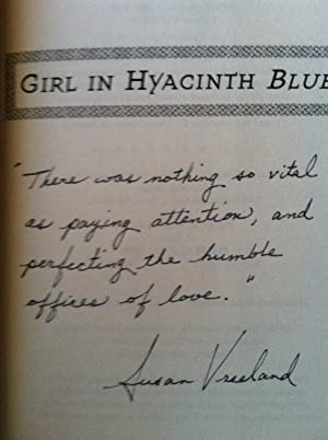 Girl In Hyacinth Blue (SIGNED w/SPECIAL QUOTE)