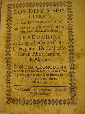 Los diez y seis libros de las: Marco Tulio Cicerón.