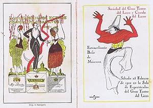 PROGRAMA EXTRAORDINARIO BAILE DE MASCARAS, AÑO 1922 - SOCIEDAD DEL GRAN TEATRO DEL LICEO Y ...