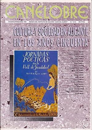 CANELOBRE, nº 14/15 - Cultura y sociedad en Alicante en los años cincuenta: VV. AA...