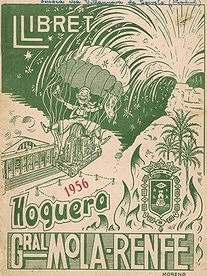 LLIBRET HOGUERA GENERAL MOLA-RENFE - ALICANTE 1956: VV. AA.