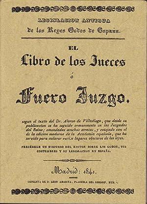 EL LIBRO DE LOS JUECES O FUERO: VILLADIEGO, Alonso de