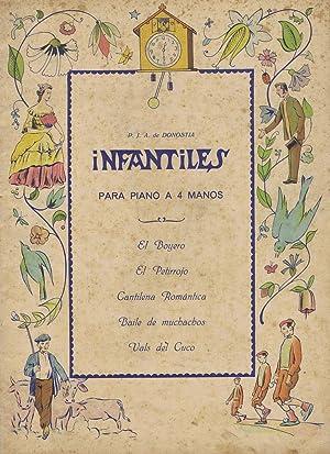PARTITURAS INFANTILES - P. J. A. de Donostia para piano a 4 manos