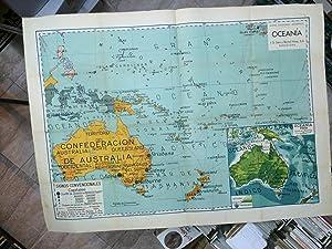 OCEANIA. Mapas escolares modernos
