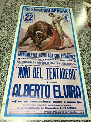 PLAZA DE TOROS DE GALAPAGAR (Madrid) - Monumental novillada con picadores - Domingo 22 Marzo 1992
