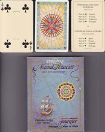 BARAJA FOURNIER. EUROPEAN NAVAL POWERS. ¡ SIN USAR ! - Naipe Poker de 55 Cartas