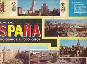 ALBUM DE ESPAÑA EN FOTO-CROMOS A TODO COLOR - Album Ediciones Coled - Incompleto