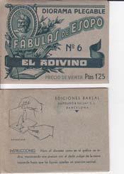 EL ADIVINO. Diorama Plegable Fabulas de Esopo,: ESOPO