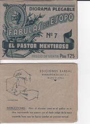 EL PASTOR MENTIROSO. Diorama Plegable Fabulas de: ESOPO