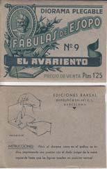 EL AVARIENTO. Diorama Plegable Fabulas de Esopo,: ESOPO