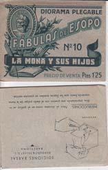LA MONA Y SUS HIJOS. Diorama Plegable: ESOPO