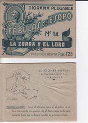 LA ZORRA Y EL LOBO. Diorama Plegable: ESOPO