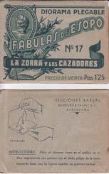 LA ZORRA Y LOS CAZADORES. Diorama Plegable: ESOPO