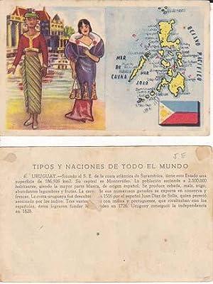 Cromos TIPOS Y NACIONES DE TODO EL MUNDO.