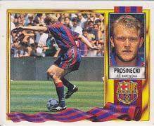 Cromos LIGA 95-96. Ediciones Este. PROSINECKI. Fútbol Club Barcelona.