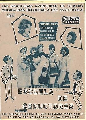 ESCUELA DE SEDUCTORAS. Publicidad original de Prensa