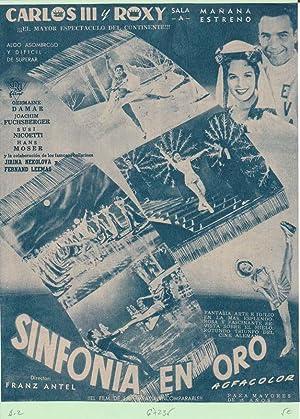 SINFONIA EN ORO. Publicidad original de Prensa
