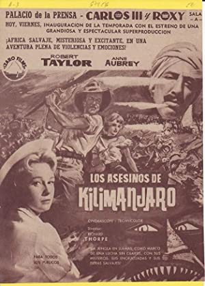 LOS ASESINOS DE KILIMANJARO: Director: Richard Thorpe - Actores: Robert Taylor, Anthony Newley y ...