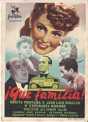 QUE FAMILIA ! - Director: Alejandro Ulloa