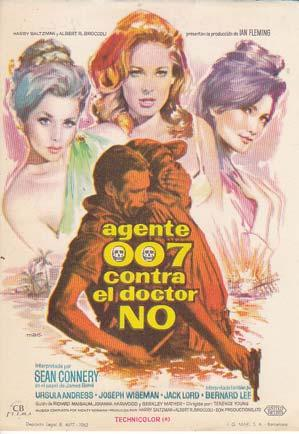 AGENTE 007 CONTRA EL DOCTOR NO - Director: Terence Young - Actores: Sean Connery y Ursula Andress...