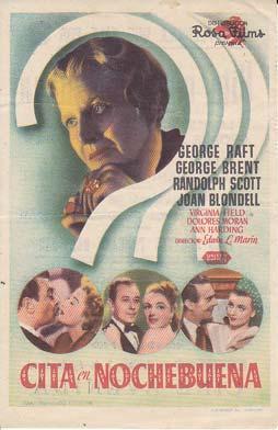 CITA EN NOCHEBUENA - Cine Avenida de Aspe (Alicante) - Director: Edwin L. Marin - Actores: George ...