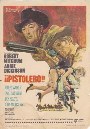 PISTOLERO !! - Director: Burt Kennedy - Actores: Robert Mitchum y Angie Dickinson/ Cine ...