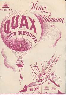 QUAX EL PILOTO ROMPETECHOS - Director: Kurt