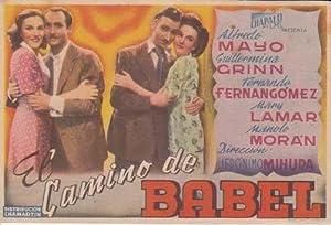 EL CAMINO DE BABEL - Director: Jerónimo Mihura - Actores: Alfredo Mayo, Guillermina Grinn, ...