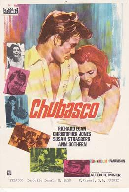 CHUBASCO - Director: Allen H. Miner - Actores: Richard Egan, Christopher Jones, Susan Strasberg.&#...