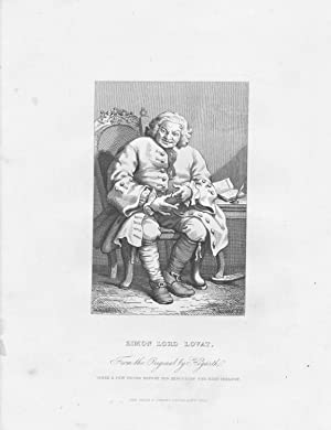 GRABADO - SIMON LORD LOVAT. Taken a Few Hours Before His Execution for High Treason