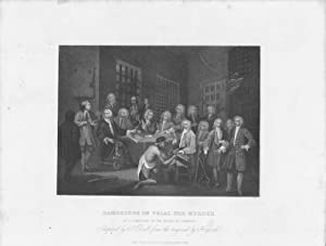 GRABADO - BAMBRIDGE ON TRIAL FOR MURDER. By a Committee of the House of Commons