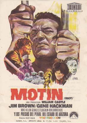 MOTIN - Cine Chapi (Alicante) - Director: Buzz Kulik - Actores: Jim Brown, Gene Hackman, Mike Kel...