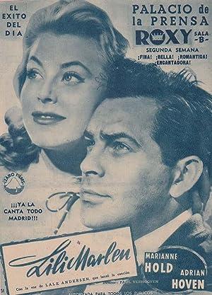 LILI MARLEN: Director: Paul Verhogven - Actores: Marianne Hold, Adrian Hoven./ Publicidad ...