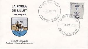 LA POBLA DE LILLET (Barcelona) - 555 BERGUEDÁ - ESCUTS HERÁLDICS (Escudos Herá...