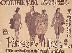 PADRES E HIJOS: Director: Michel Boujenah - Actores: Vittorio De Sica, Marcello Mastroianni, ...