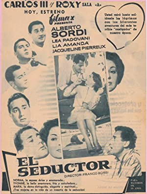 EL SEDUCTOR: Director: Franco Rossi - Actores: Alberto Sordi, Lea Padovani, Lia Amanda/ ...