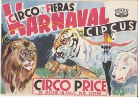 CIRCO PRICE DE MADRID EN VIAJE POR ESPAÑA. Circo y Fieras Karnaval Circus