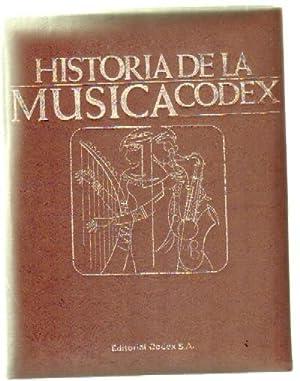 HISTORIA DE LA MUSICA CODEX (5 TOMOS MAS 2 TOMOS MAS 145 DISCOS): VV. AA.