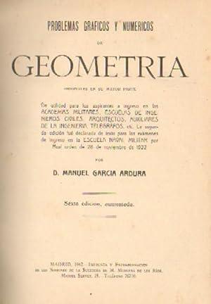 PROBLEMAS GRAFICOS Y NUMERICOS DE GEOMETRIA: GARCIA ARDURA, MANUEL