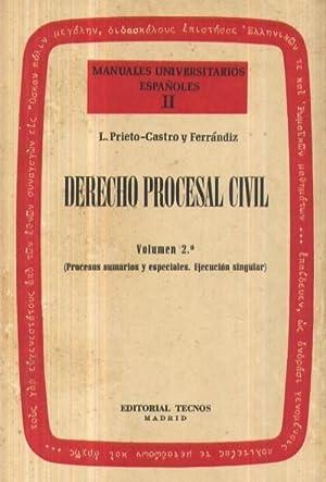MANUALES UNIVERSITARIOS ESPAÑOLES II: DERECHO PROCESAL CIVIL: VV. AA .