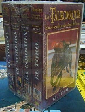 LA TAUROMAQUIA. Enciclopedia audiovisual del toreo. 4 VHS: VIDAL, MANUEL (Dir.)