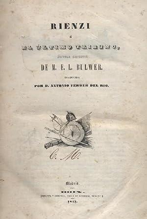 RIENZI O EL ULTIMO TRIBUNO 2 TOMOS: BULWER, M.E.L.