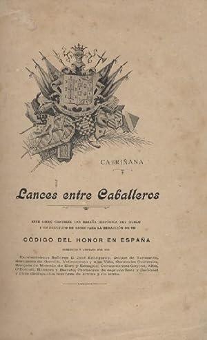 LANCES ENTRE CABALLEROS: CABRIÑANA