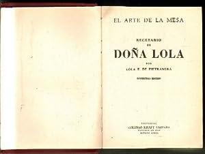 EL ARTE DE LA MESA. RECETARIO DE: P. DE PIETRANERA,