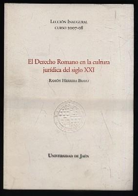EL DERECHO ROMANO EN LA CULTURA JURIDICA: HERRERA BRAVO, RAMON.