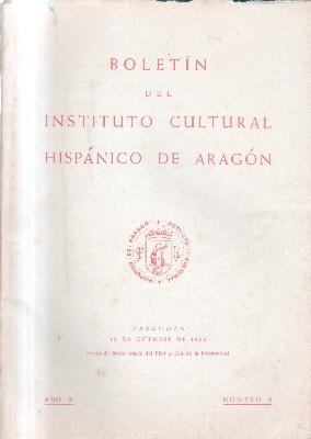 BOLETIN INSTITUTO CULTURAL HISPANICO DE ARAGON. AÑO X. Nº 9.