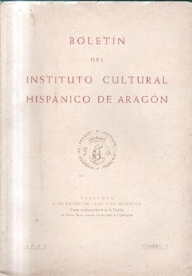 BOLETIN INSTITUTO CULTURAL HISPANICO DE ARAGON. AÑO I Nº 1