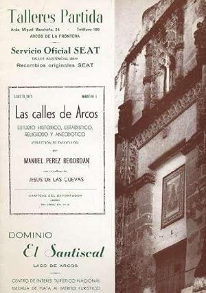 LAS CALLES DE ARCOS. NUMERO 1: PEREZ REGORDAN, MANUEL